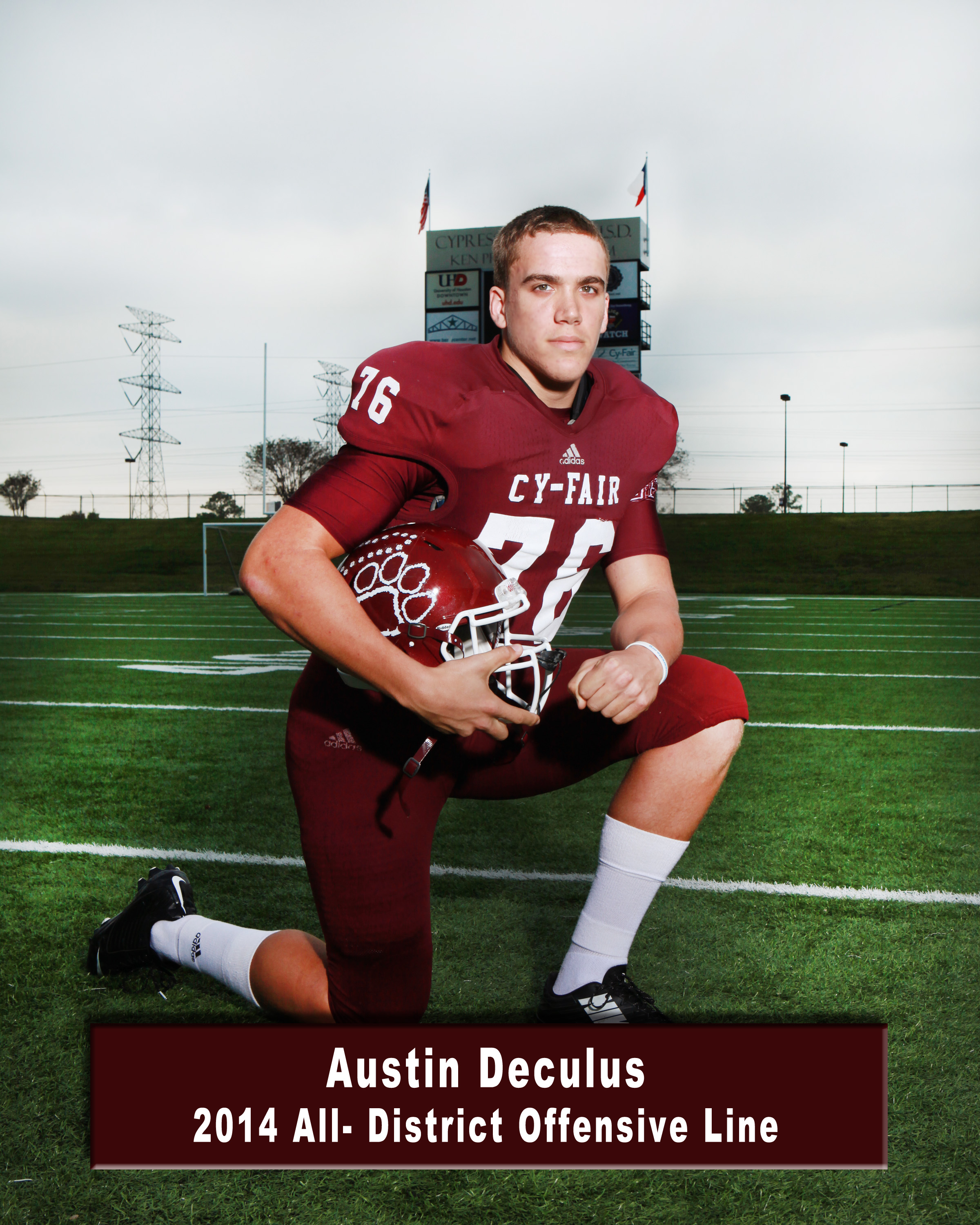 Austin Deculus - 2017 OT - Cy-Fair HS, Cypress, TX (Photo courtesy of Cyfairfootball.com)